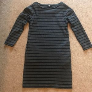 Striped cotton dress